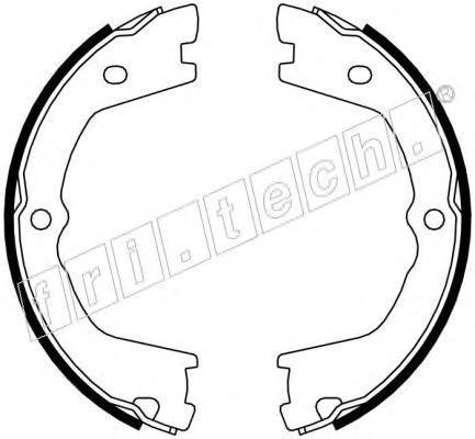 1034110 FRI.TECH. Комплект тормозных колодок, стояночная тормозная система