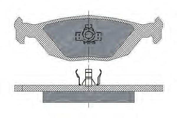 Комплект тормозных колодок, дисковый тормоз SCT SP194