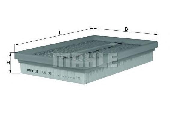 LX336 KNECHT Воздушный фильтр