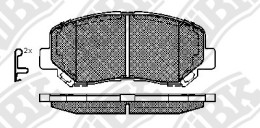 Комплект тормозных колодок NIBK PN25000