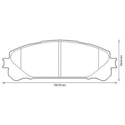 572655J JURID Комплект тормозных колодок, дисковый тормоз