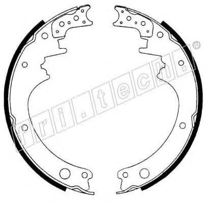Комплект тормозных колодок FRI.TECH. 1067165