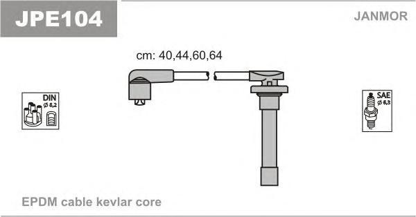 JPE104 JANMOR Комплект проводов зажигания