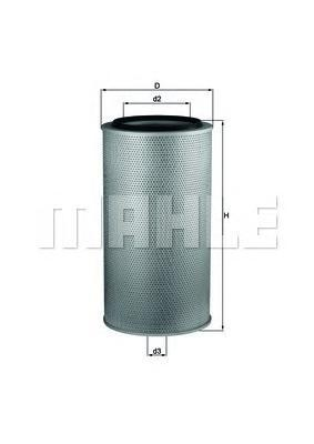 LX1255 MAHLE/KNECHT Воздушный фильтр