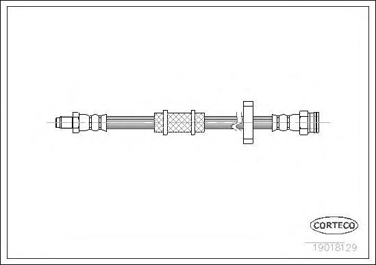 19018129 CORTECO Тормозной шланг