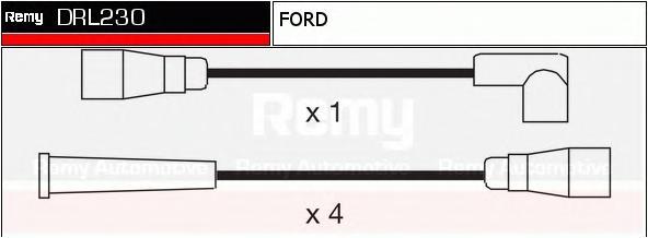 Комплект проводов зажигания DELCO REMY DRL230