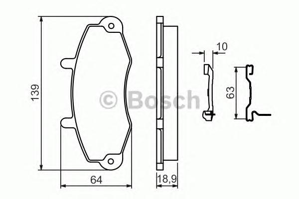 0986494292 BOSCH Комплект тормозных колодок, дисковый тормоз