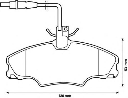Комплект тормозных колодок, дисковый тормоз BENDIX 571897X