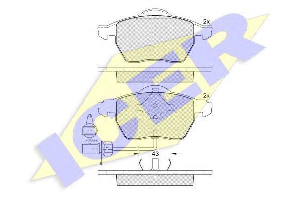 181331203 ICER Комплект тормозных колодок