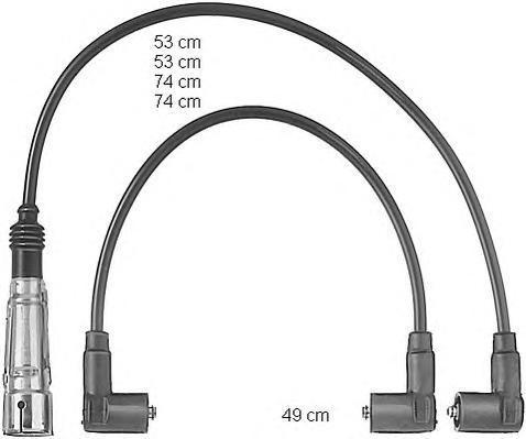 ZEF520 BERU Комплект проводов зажигания