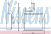 71744 NISSENS Теплообменник, отопление салона