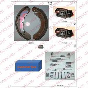 701 DELPHI Комплект тормозных колодок