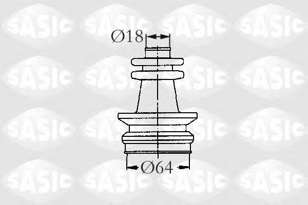 2873653 SASIC Комплект пылника, приводной вал