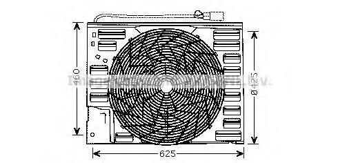 BW7508 AVA Вентилятор, охлаждение двигателя