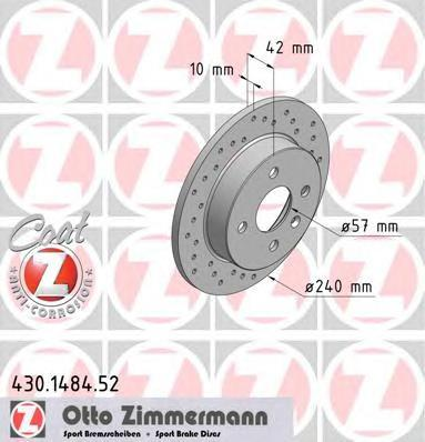 430148452 ZIMMERMANN Тормозной диск