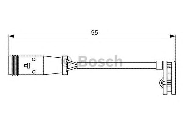 1987473036 BOSCH Датчик износа колодок задних