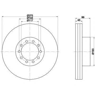 93142700 TEXTAR Тормозной диск