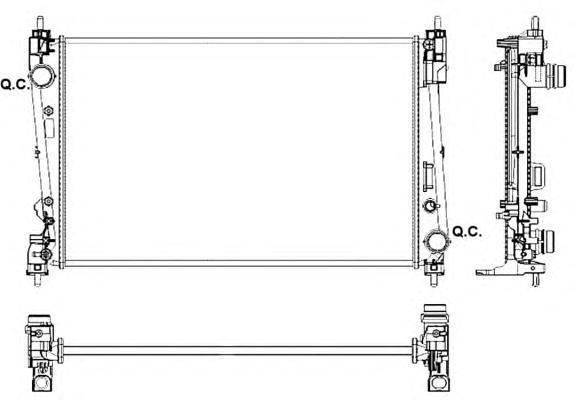 53017 NRF Радиатор, охлаждение двигателя