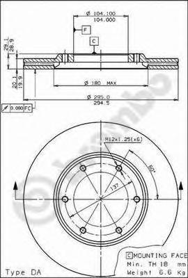 09519410 BREMBO Тормозной диск