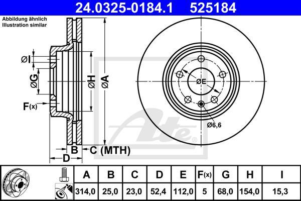 24032501841 ATE Тормозной диск