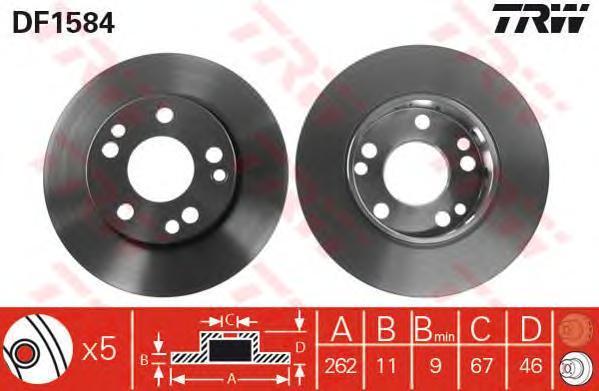 DF1584 TRW/LUCAS Тормозной диск