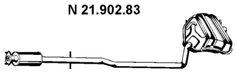 Глушитель выхлопных газов конечный EBERSPACHER 2190283