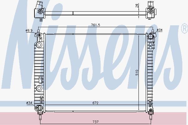 616905 NISSENS Радиатор системы охлаждения