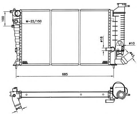 Радиатор, охлаждение двигателя NRF 50419