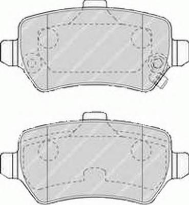 Комплект тормозных колодок, дисковый тормоз FERODO FSL1521