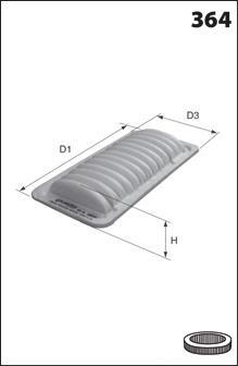 Воздушный фильтр MECAFILTER ELP9278