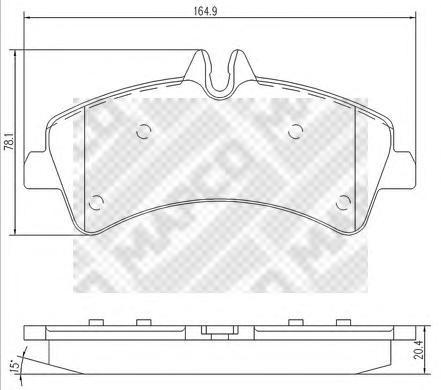 Комплект тормозных колодок, дисковый тормоз MAPCO 6799