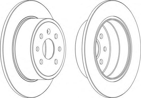 Тормозной диск FERODO DDF814