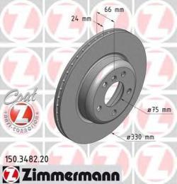 150348220 ZIMMERMANN Тормозной диск