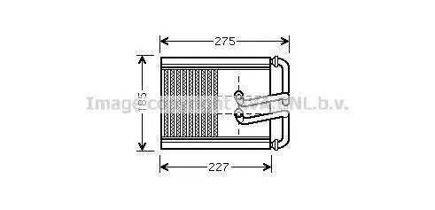 Теплообменник, отопление салона AVA HY6169