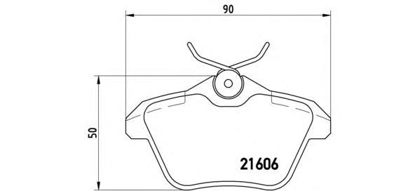 P23067 BREMBO Комплект тормозных колодок, дисковый тормоз