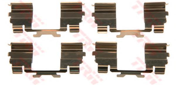 PFK571 TRW Комплектующие, колодки дискового тормоза
