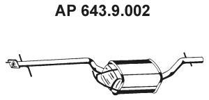 Средний глушитель выхлопных газов EBERSPACHER 6439002