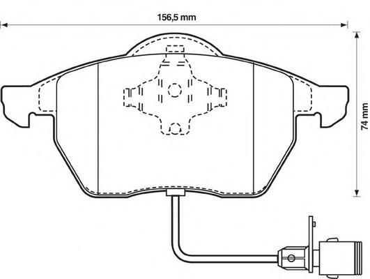 Комплект тормозных колодок, дисковый тормоз BENDIX 571512B