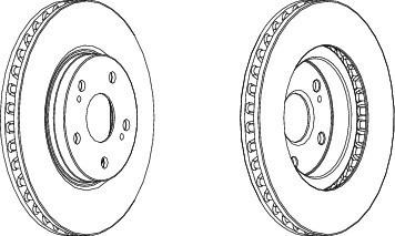 DDF1814 FERODO Тормозной диск