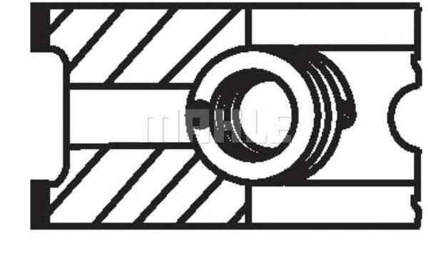 03748N0 MAHLE Комплект поршневых колец