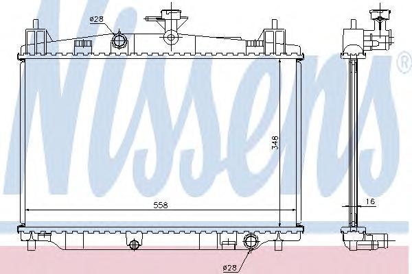 68504 NISSENS Радиатор, охлаждение двигателя