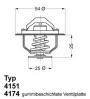 417479D WAHLER Термостат, охлаждающая жидкость
