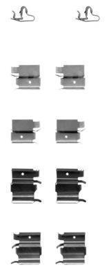 82509500 TEXTAR Комплектующие, колодки дискового тормоза