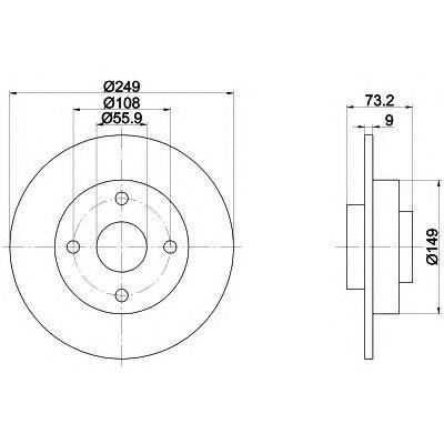 92194100 TEXTAR Тормозной диск