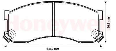 Комплект тормозных колодок, дисковый тормоз BENDIX 572336B