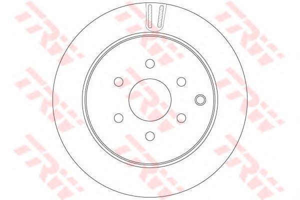 DF6289 TRW/LUCAS Диск тормозной вентилируемый