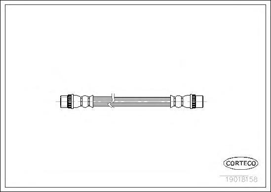 19018158 CORTECO Тормозной шланг