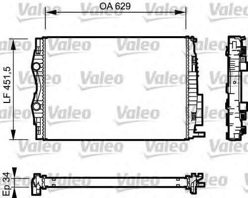 734438 VALEO Радиатор, охлаждение двигателя