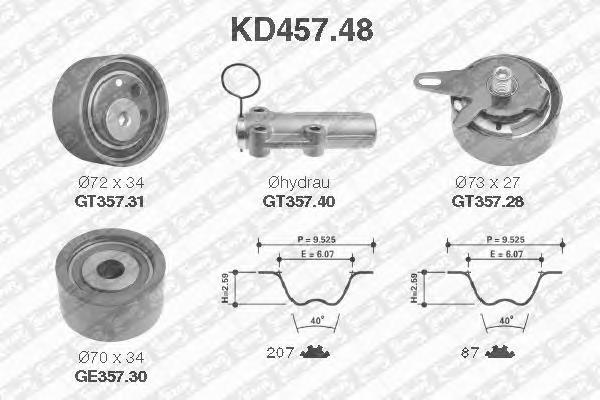 KD45748 NTN-SNR Комплект ремня ГРМ