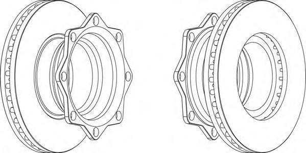 FCR202A FERODO Тормозной диск